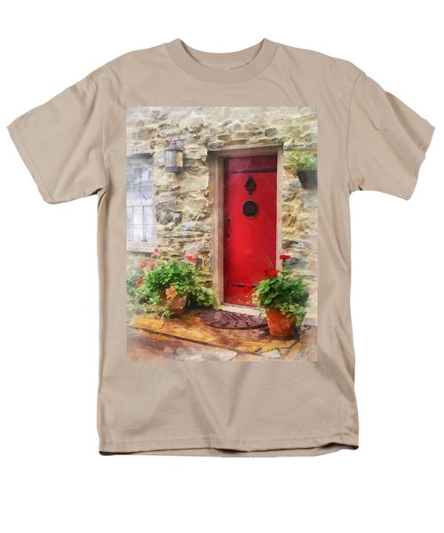 Geraniums by Red Door T-Shirt by Susan Savad