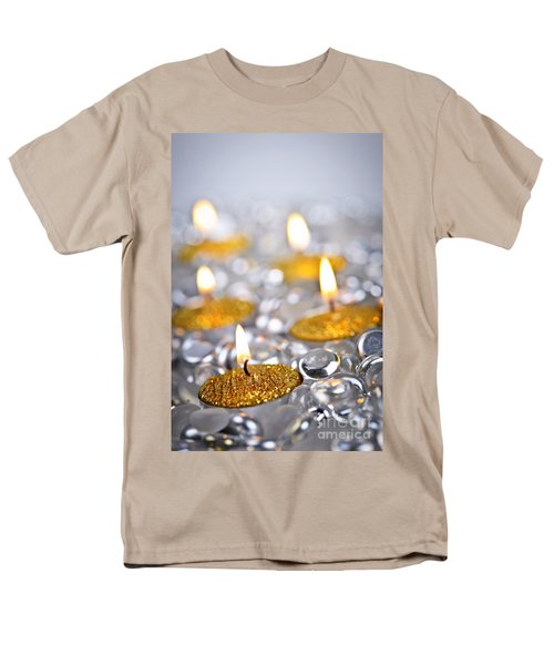 Gold Christmas candles T-Shirt by Elena Elisseeva