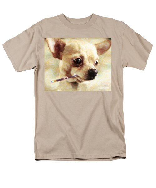 Hollywood Fifi Chika Chihuahua - Painterly T-Shirt by Wingsdomain Art and Photography