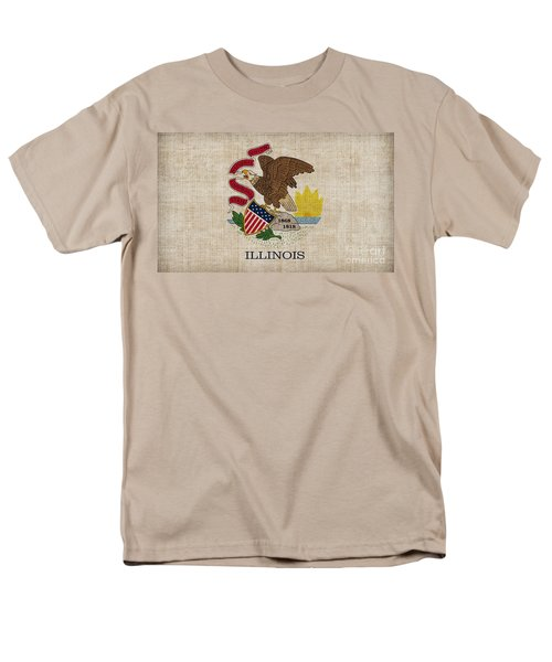 Illinois State Flag T-Shirt by Pixel Chimp