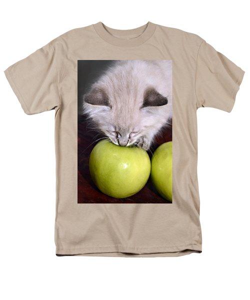 Kitten and an Apple T-Shirt by Susan Leggett