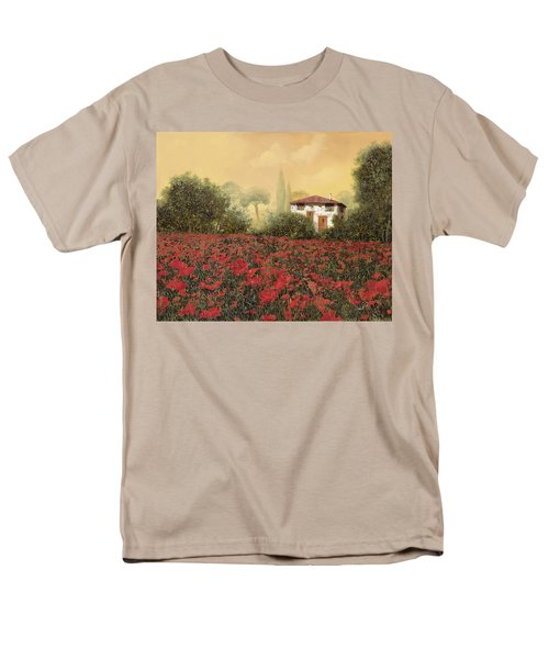 La casa e i papaveri T-Shirt by Guido Borelli