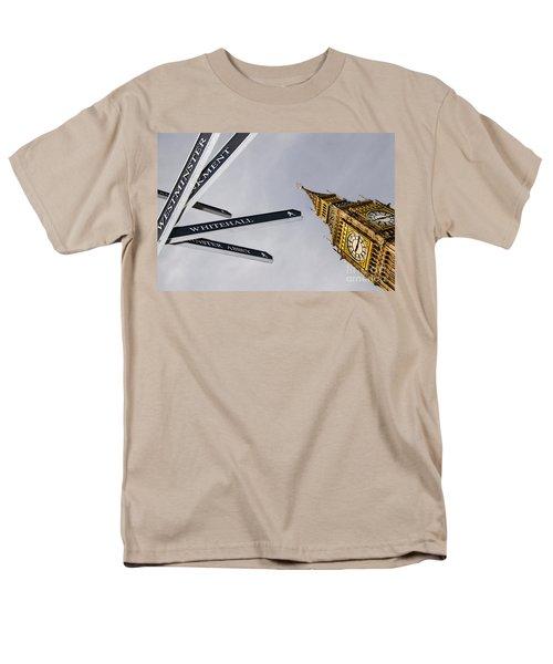 London Street Signs Men's T-Shirt  (Regular Fit) by David Smith