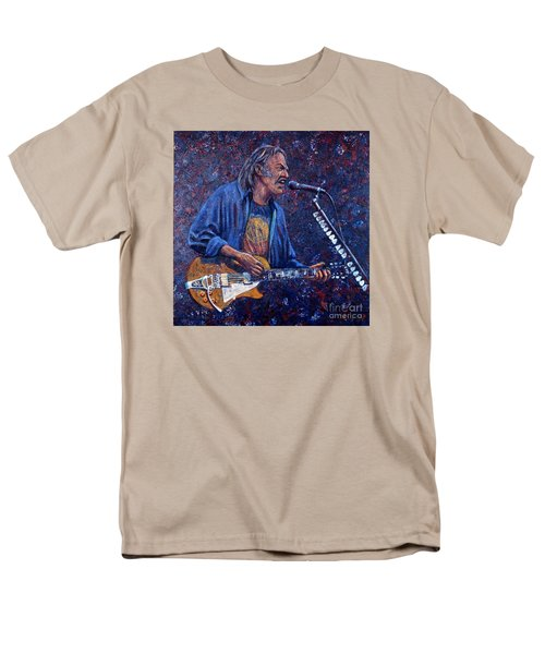 Neil Young Men's T-Shirt  (Regular Fit) by John Cruse Knotts