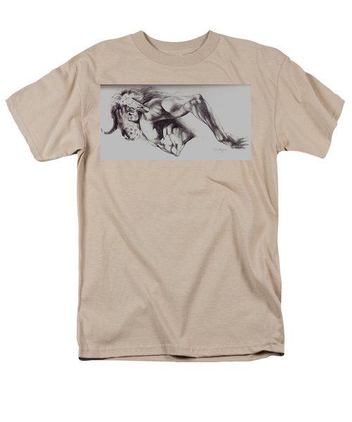 North American Minotaur Pencil Sketch Men's T-Shirt  (Regular Fit) by Derrick Higgins