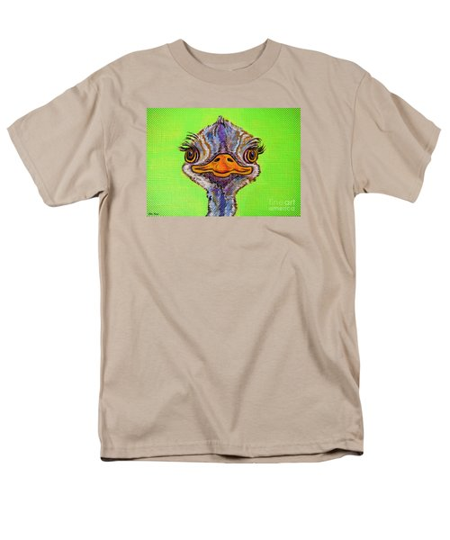 O For Ostrich Men's T-Shirt  (Regular Fit) by Ella Kaye Dickey