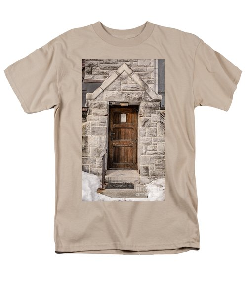 Old Stone Church Door T-Shirt by Edward Fielding