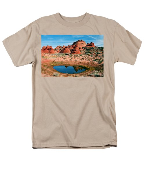 Paw Hole Reflections T-Shirt by Mike  Dawson