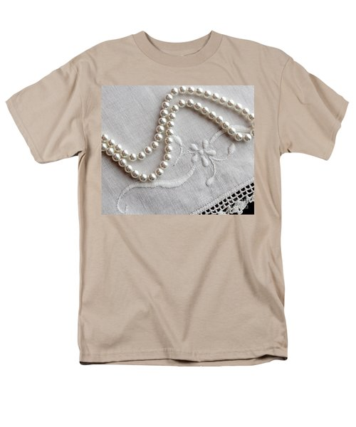 Pearls and Old Linen T-Shirt by Barbara Griffin