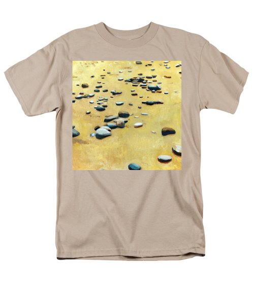 Pebbles on the Beach - Oil T-Shirt by Michelle Calkins