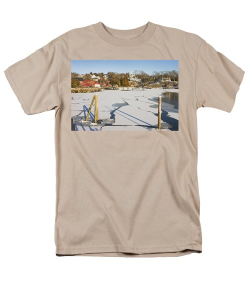 Rockport Maine in Winter T-Shirt by Keith Webber Jr