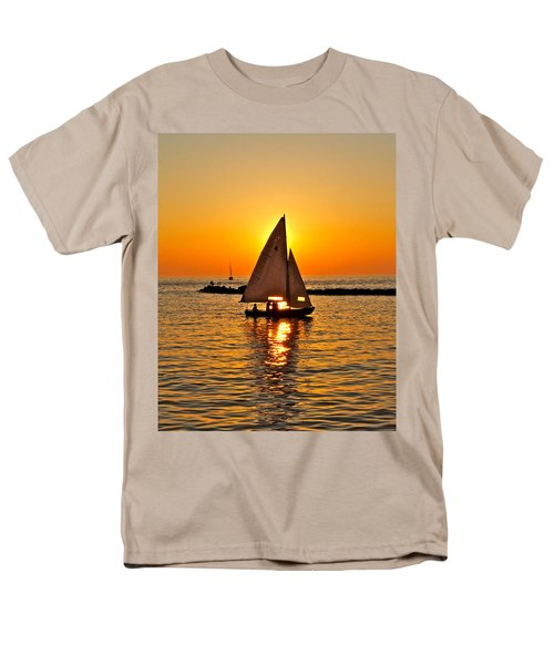 Sailboat Sunset T-Shirt by Frozen in Time Fine Art Photography