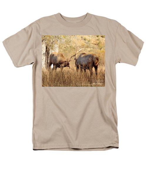 Sparring Elk T-Shirt by Robert Frederick