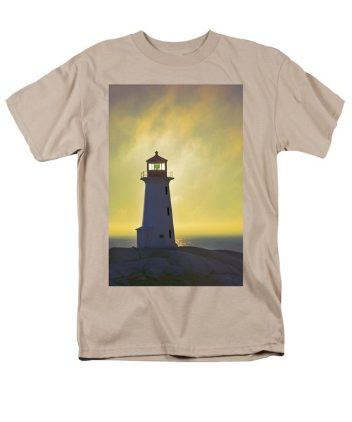Sunset Over Peggys Cove Lighthouse T-Shirt by Thomas Kitchin & Victoria Hurst