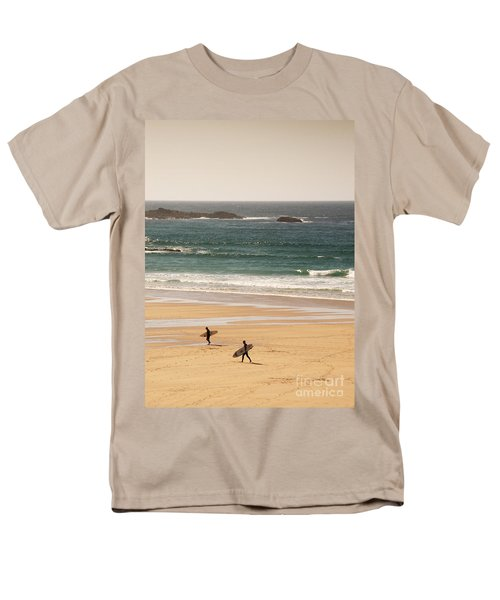 Surfers on beach 01 T-Shirt by Pixel Chimp