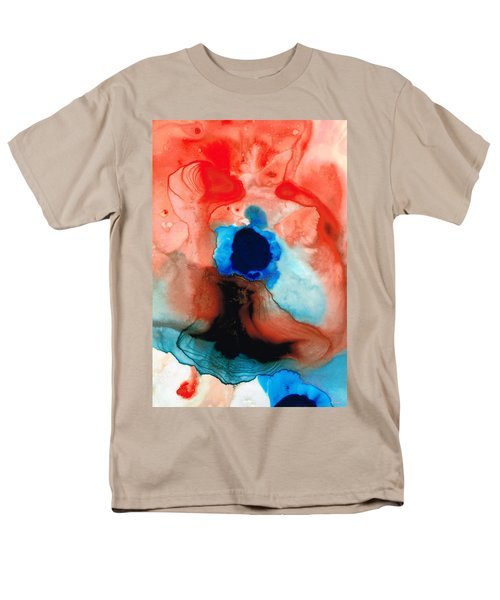 The Dancer - Abstract Red and Blue Art By Sharon Cummings T-Shirt by Sharon Cummings