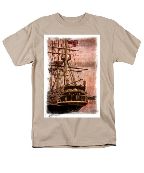 The Gleaming Hull of the HMS Bounty T-Shirt by Debra and Dave Vanderlaan