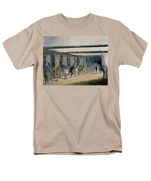 The Horse Armour Tower, Print Made Men's T-Shirt  (Regular Fit) by T. & Pugin, A.C. Rowlandson