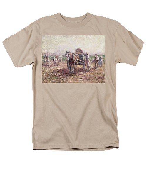 The Potato Pickers Men's T-Shirt  (Regular Fit) by Harry Fidler