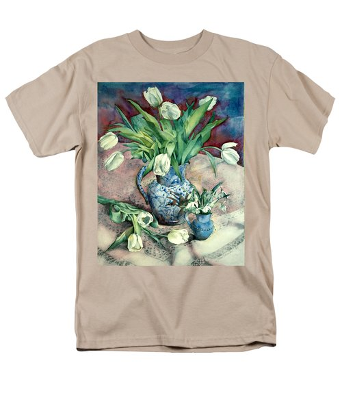 Tulips And Snowdrops T-Shirt by Julia Rowntree
