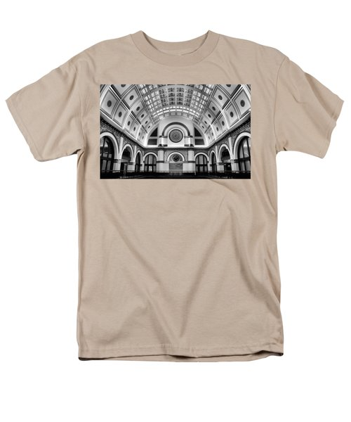Union Station Lobby Black and White T-Shirt by Kristin Elmquist
