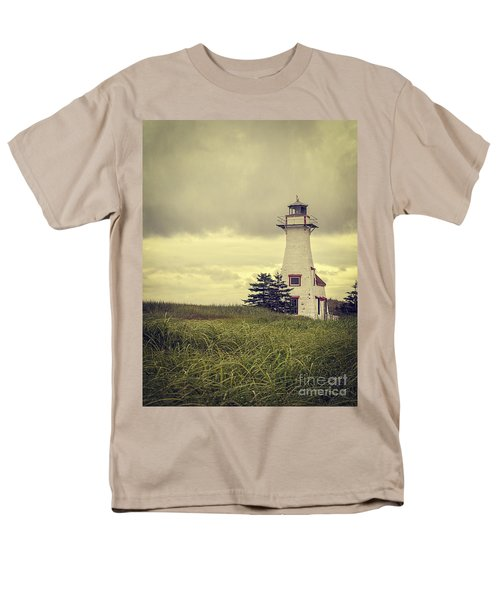 Vintage Lighthouse PEI T-Shirt by Edward Fielding
