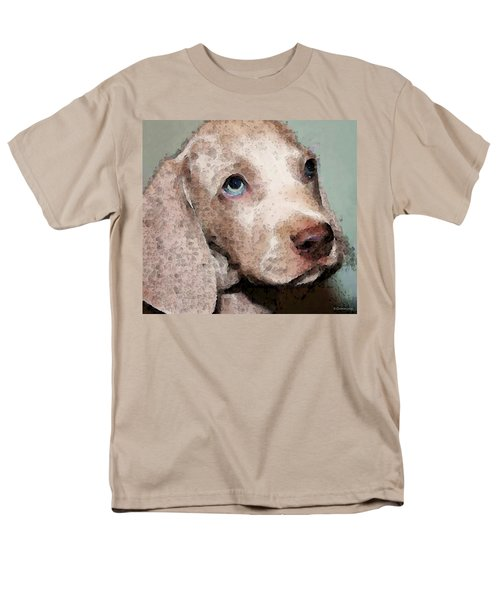 Weimaraner Dog Art - Forgive Me T-Shirt by Sharon Cummings
