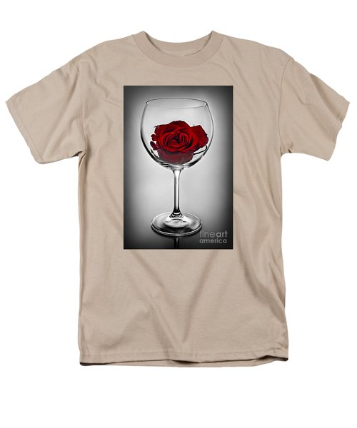 Wine glass with rose T-Shirt by Elena Elisseeva
