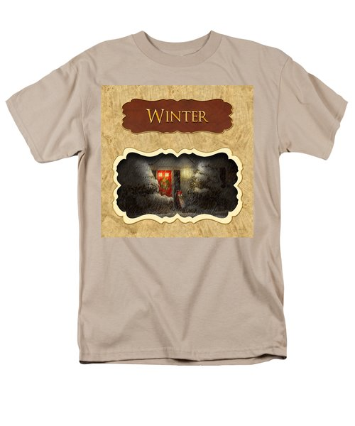 Winter button T-Shirt by Mike Savad