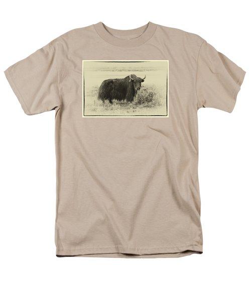 Yaks...the Official Animal Of Tibet Men's T-Shirt  (Regular Fit) by Alan Toepfer