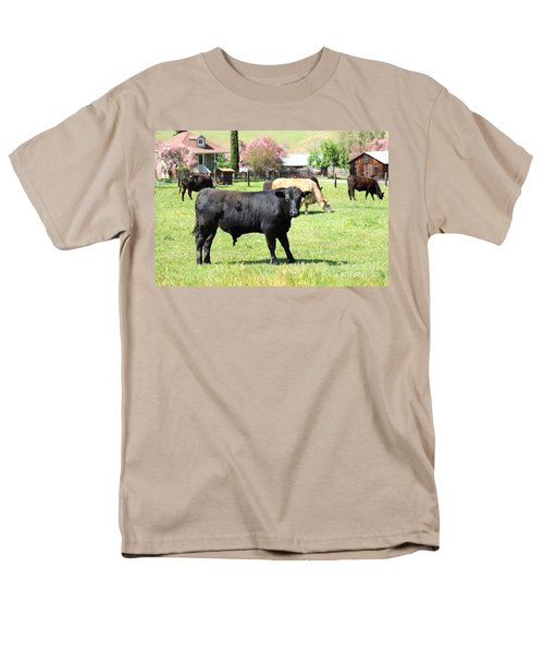 Young Bull Home On The Ranch At The Black Diamond Mines in Antioch California 5D22349 T-Shirt by Wingsdomain Art and Photography