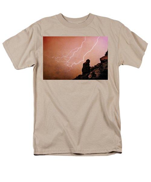 Praying Monk Camelback Mountain Lightning Monsoon Storm Image TX T-Shirt by James BO  Insogna