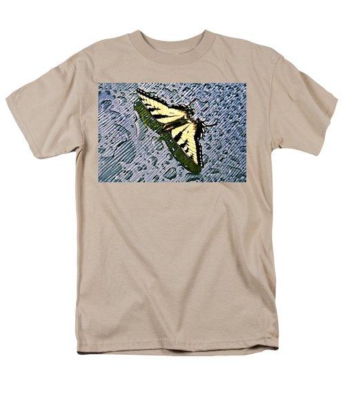 Butterfly in Rain T-Shirt by Susan Leggett
