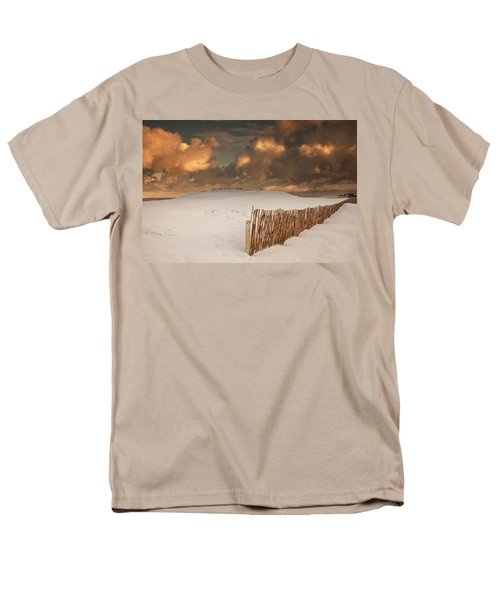 Illuminated Clouds Glowing Over A Snow T-Shirt by John Short