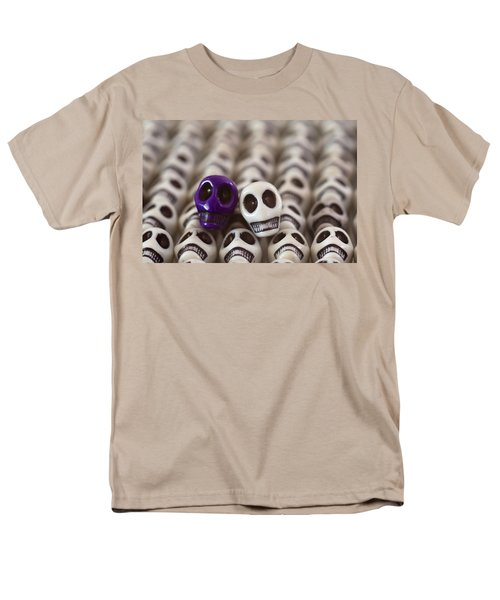 Royal Purple And White T-Shirt by Mike Herdering