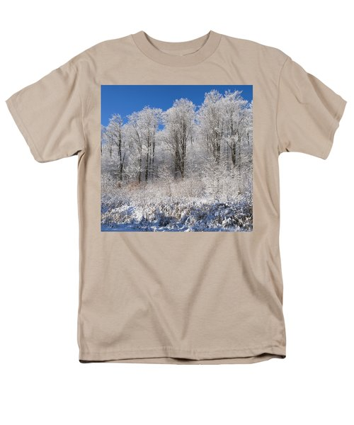 Snow Covered Maple Trees Iron Hill T-Shirt by David Chapman
