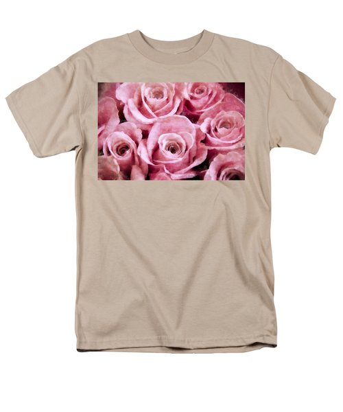 Soft Pink Roses T-Shirt by Angelina Vick