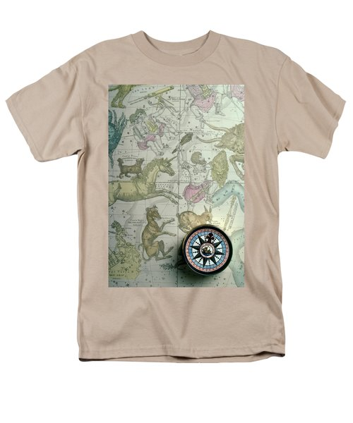 Star Map And Compass T-Shirt by Garry Gay