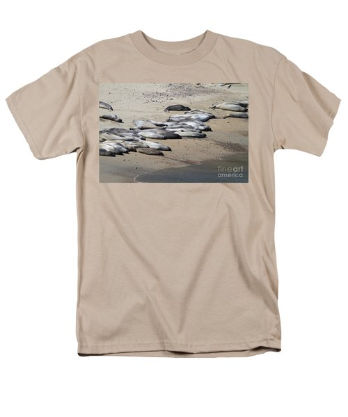 Sunbathing Elephant Seals Along A Beach At Point Reyes California . 7D16063 T-Shirt by Wingsdomain Art and Photography