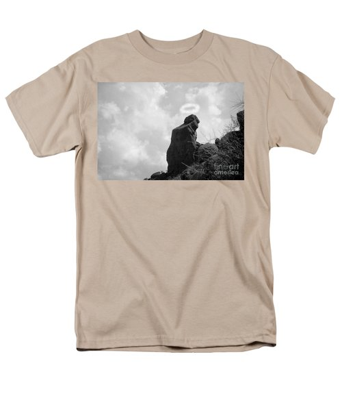 The Praying Monk with Halo - Camelback Mountain BW T-Shirt by James BO  Insogna