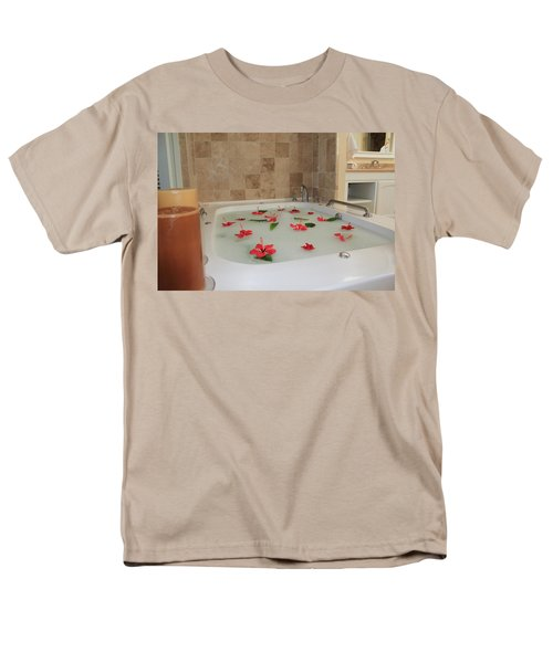 Tub Of Hibiscus T-Shirt by Shane Bechler