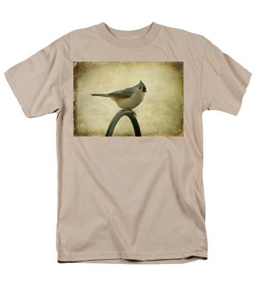 Tufted Titmouse II Men's T-Shirt  (Regular Fit) by Sandy Keeton