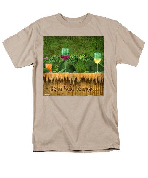 Honu Hula Lounge... Men's T-Shirt  (Regular Fit) by Will Bullas