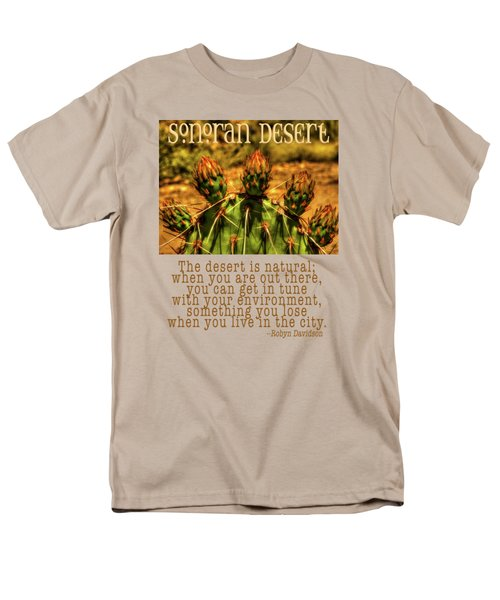 Prickly Pear Cactus Men's T-Shirt  (Regular Fit) by Roger Passman