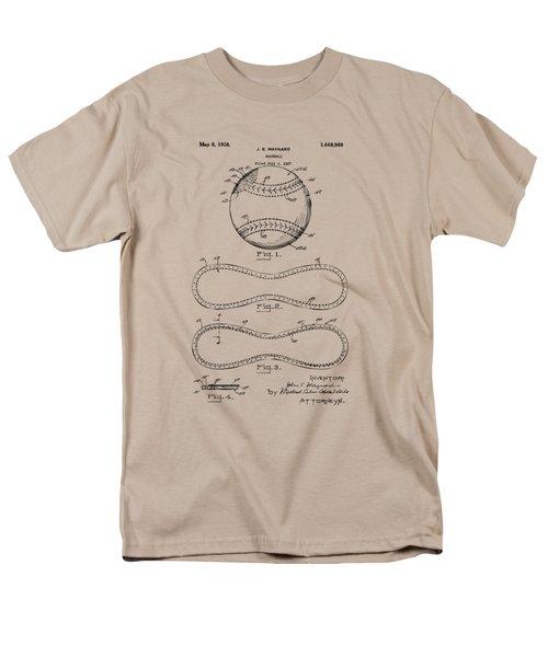 1928 Baseball Patent Artwork Vintage Men's T-Shirt  (Regular Fit) by Nikki Marie Smith