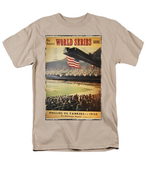 1950 Phillies vs Yankees World Series Guide T-Shirt by Bill Cannon