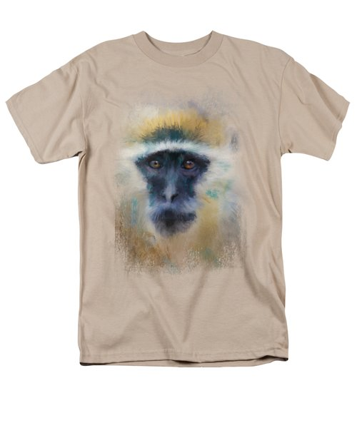 African Grivet Monkey Men's T-Shirt  (Regular Fit) by Jai Johnson
