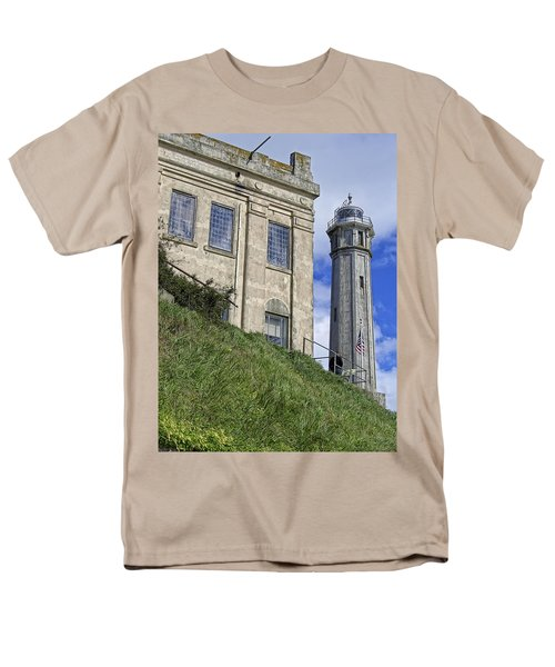 ALCATRAZ CELL HOUSE and LIGHTHOUSE T-Shirt by Daniel Hagerman