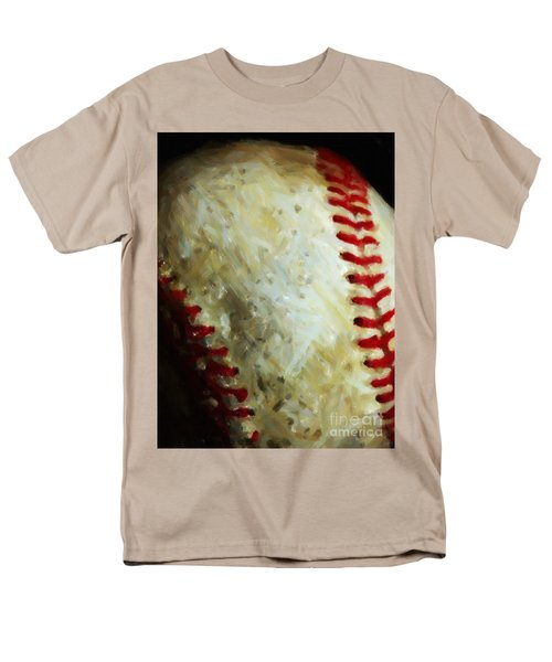 All American Pastime - Baseball - Vertical Cut - Painterly T-Shirt by Wingsdomain Art and Photography