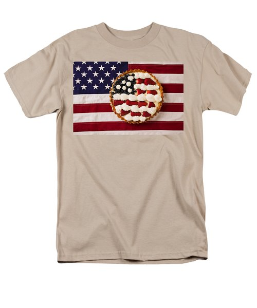 American pie on American flagAmerican pie on American flagAmer T-Shirt by Garry Gay